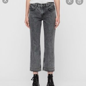 All Saints Ava stud hem crop jeans
